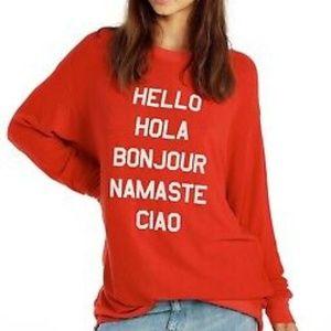 Wildfox HELLO Sweater